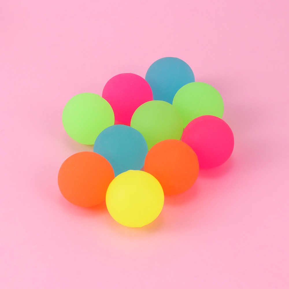 10Pcs/Set Party Favor Luminous Ball Toys Moonlight High Bounce Orb Glow In The Dark Noctilucent Kids Gift Party Decoration