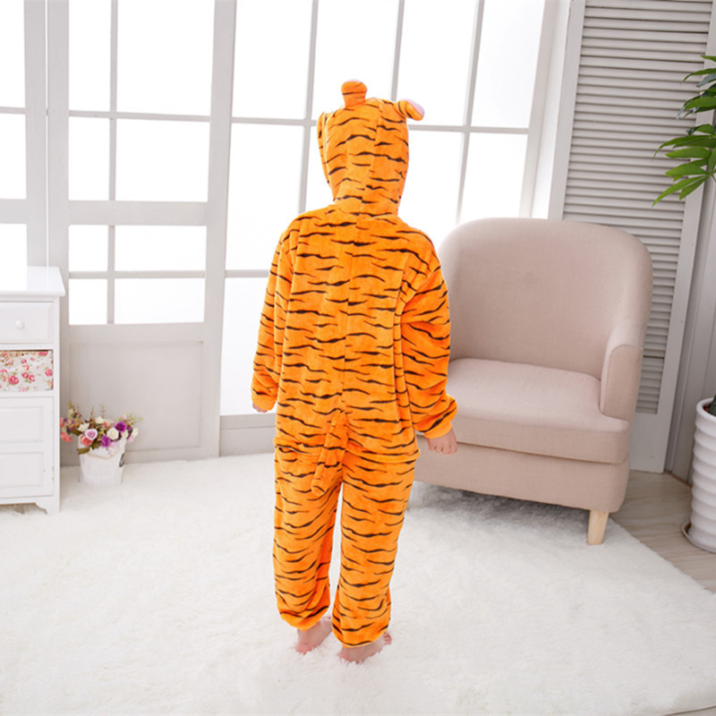 Autumn Clothing Childrenswear Bunny Tigger Cartoon Animal One-piece Pajama Toilet Children Parent And Child Performance Home Wea