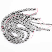 Free Shipping Natural Stone Black Hematite Beads 4 6 8 10 MM 15 Per Strand Pick Size For Jewelry Making