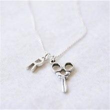 Ожерелье с ножницами ожерелье кулоном в виде ножниц подарок