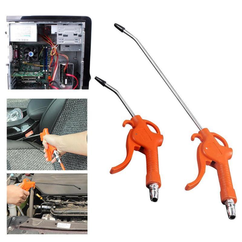 50MPa Air Blow Gun Orange Angled Nozzle Plastic Handle Air Duster Spray Gun