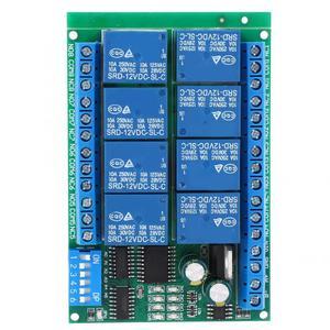 Image 1 - RS485 DC 12V 8 Kanal Relais Verzögerung Bord Befehl Programmierbare Steuerung Relais Modul hohe qualität