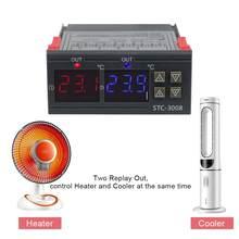 Digitale Temperatur Controller Thermostat Temperaturregler Einstellbare inkubator Relais STC-3008 12V 24V 220V