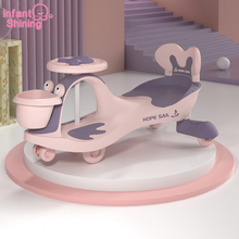 Infant Shining Children's Twisted Car Birthday Gift Toys For Children  Swinging Slippery Car Universal wheel anti-rollover