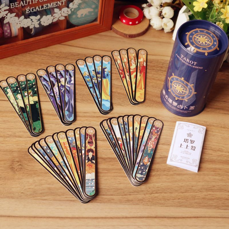 1Set Magic Tarot Cards Novice Love Fate Divination Poker Card Box Students Gifts