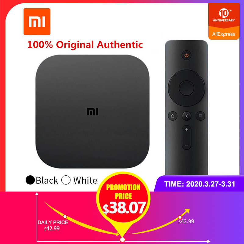 Xiaomi MI TV Kotak Putih 4 Hitam 4C Versi Cina TV 4K Amlogic Cortex-A53 Quad Core 64bit DTS-HD 2,4 GHz WiFi USB 2,0 Set-Top
