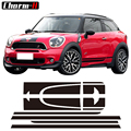 Seite Racing Stripes Haube Hinten Motor Stamm Abdeckung Aufkleber Aufkleber für Mini Paceman R61 Cooper S JCW Auto Styling Acessories auf autos|decal sticker|racing stripesstickers for mini cooper -