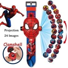 Marvel Spiderman Action-Figures Ironman Children's Watch Frozen Superhero Mickey Mouse