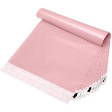 100 pcs/Lots rose clair sacs de courrier sac emballage colis de livraison d'expédition sacs auto joint enveloppe plastique expédition sac d'emballage sacs en plastique pour l'emballage