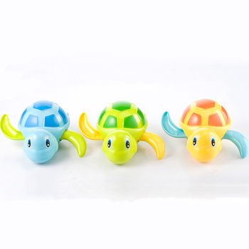 Single Sale Cute Cartoon Animal Tortoise Classic Baby Water Toy Infant Swim Turtle Wound-up Chain Clockwork Kids Beach Bath Toys 3