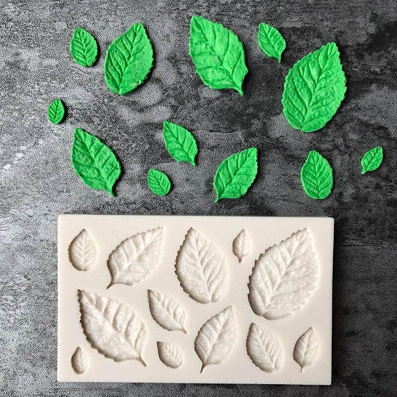Новое поступление, силиконовая форма для мыла с розовыми листьями, форма для торта, клейкая паста, конфеты, печенье, инструменты, украшение д...