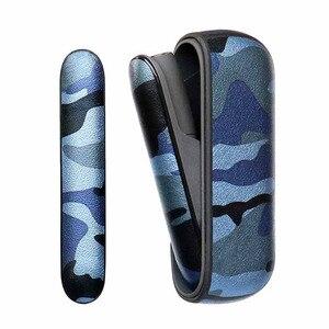 Image 4 - 4 renk kamuflaj deri kılıf iqos 3.0 kılıfı ve yan kapak tutucu kutusu iqos 3 duo koruyucu kabuk aksesuarları