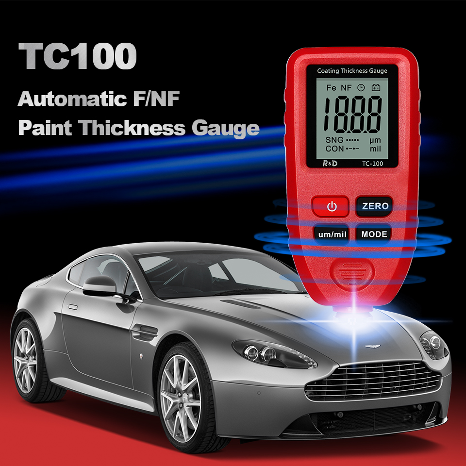 Paint Tester NFE Manual Car Amp Tool Russian D 1300um Film Gauge 0 1micron FE Paint Coating Thickness R Measuring Thickness TC100