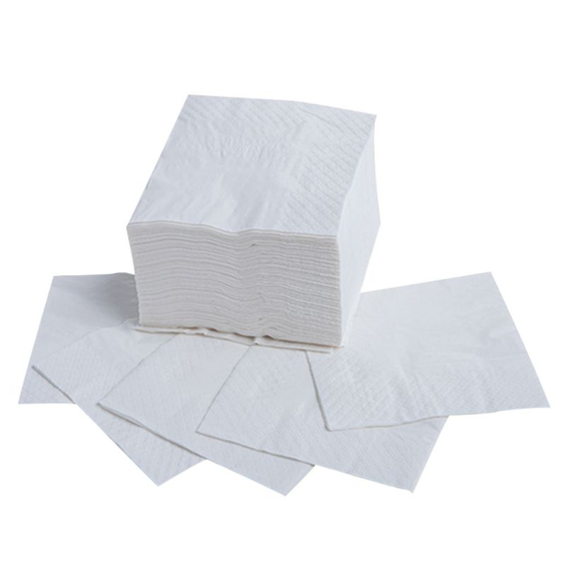 Natural Wood Disposable Pulp Napkin Toilet Paper Fabrics For Restaurant Table Dinner Party Supplies 90 Sheets