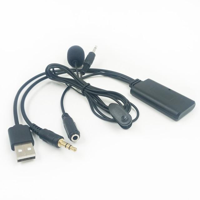 Biurlink-adaptateur de musique sans fil   Bluetooth AUX USB universel, mains libres, pour Volkswagen BMW Toyota