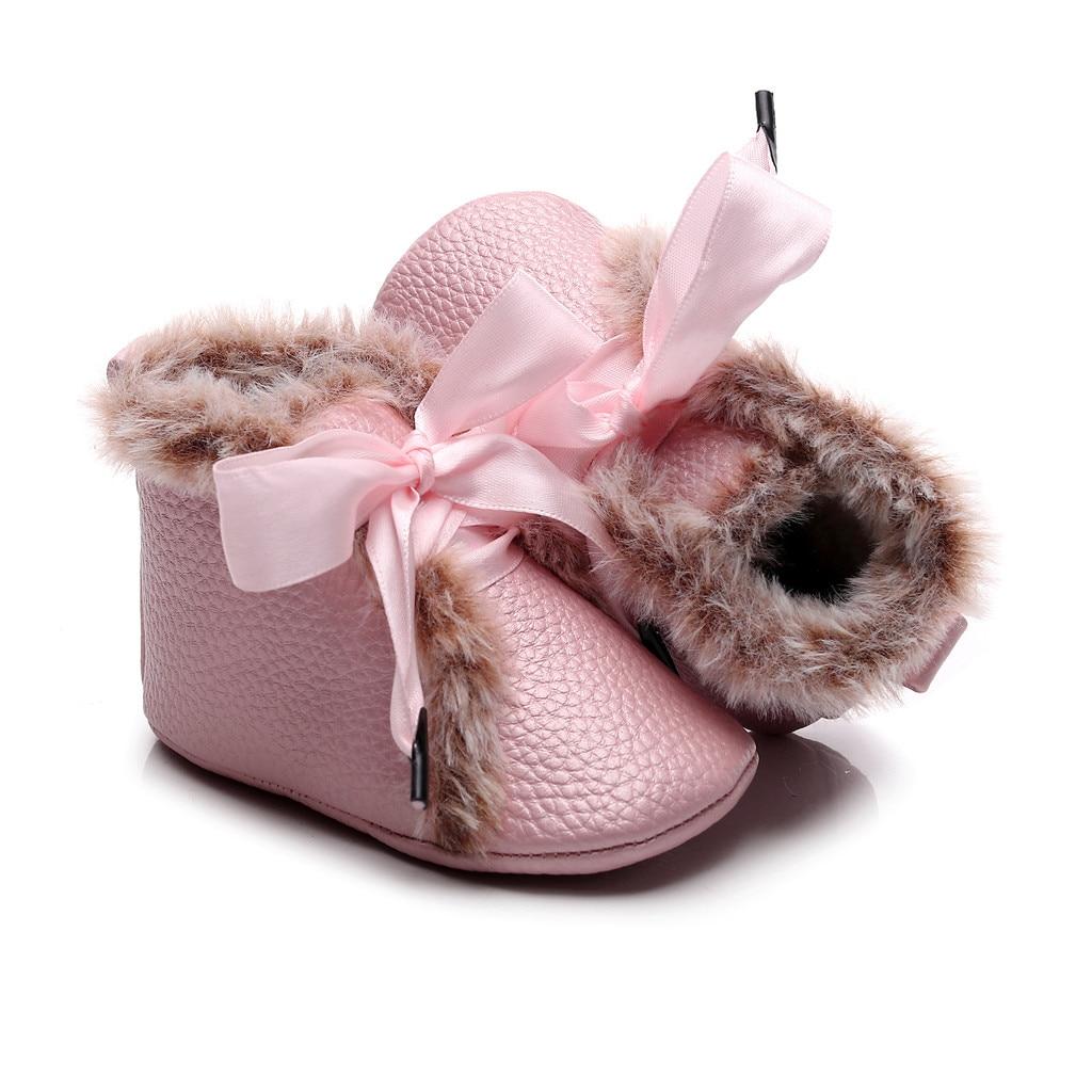 Newborn Baby Soft Warm Crib Shoe Infant Boy Girl Boots Booties Prwalker 0-18M