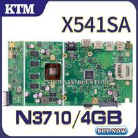 X541sa para asus x541s x541 x541sa placa-mãe do portátil x541sa mainboard teste ok n3710 4 núcleos cpu 4 gb ram