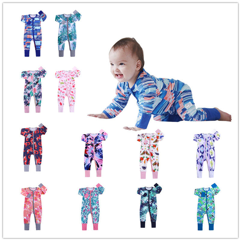 Baby Boys Save Our Ocean Short Sleeve Climbing Clothes Pajamas Sleepwear Suit 6-24 Months