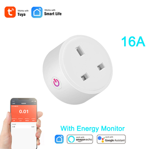 Image 1 - Tuya Smart life 16A UK WiFi Smart Socket Remote Control with Energy monitoring Power Consumption work with Alexa and google home