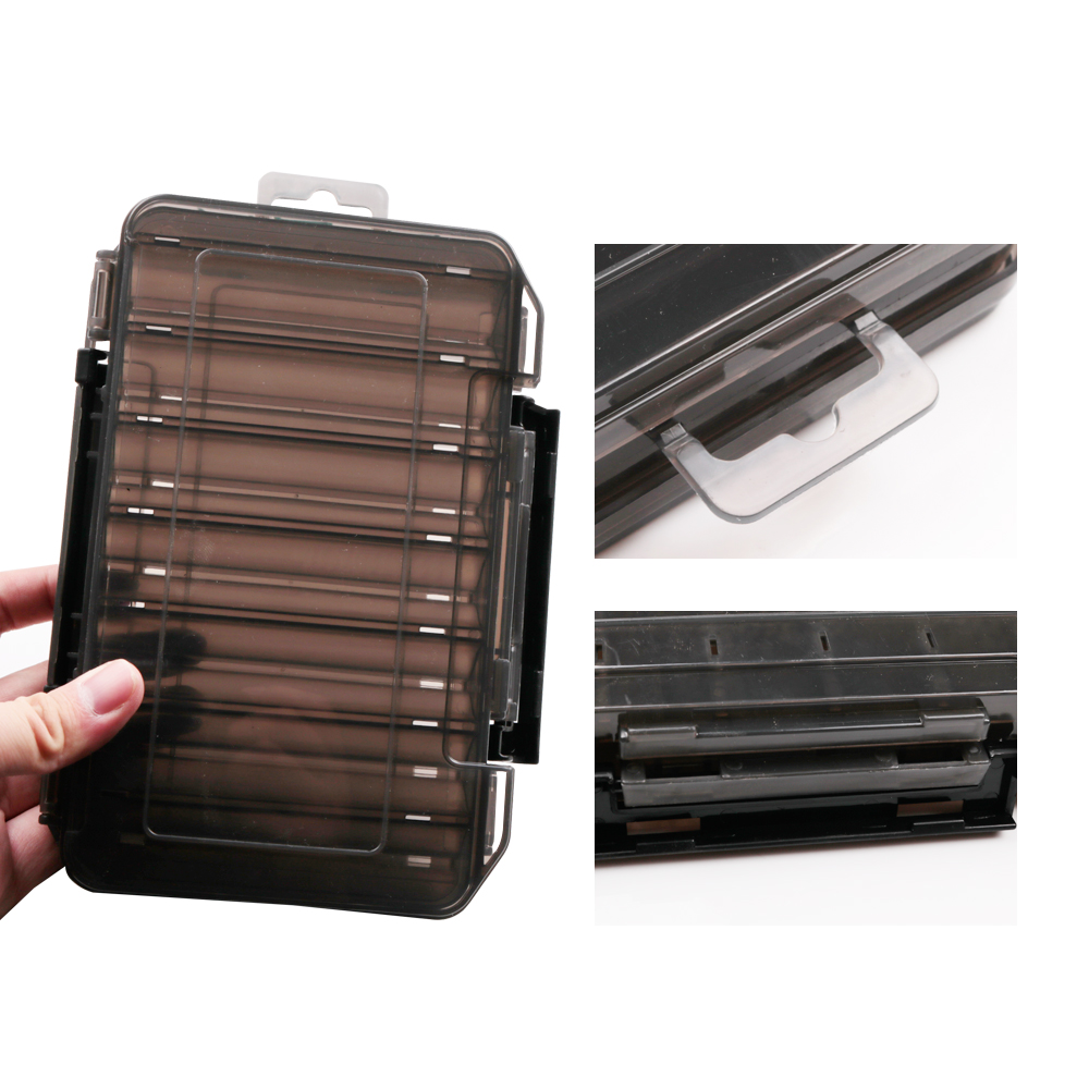 Details about  /Double Sided Fishing Box Fishing Accessories Lures Hooks Storage Box S9J9