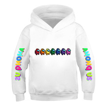 Game Among Us Impostor Hoodies 3 To 14 Years Boys Girls Cotton Hoodie Among Us Clothes Kids Pullover Oversize Print Streetwear