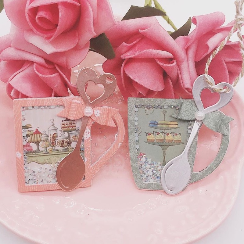 <font><b>2019</b></font> Coffee Mug Shaker Tags <font><b>Christmas</b></font> Metal <font><b>Cutting</b></font> <font><b>Dies</b></font>/<font><b>Stamp</b></font> for DIY Scrapbooking album Decorative Embossing Paper Cards image