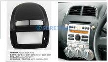 10.1 polegadas de rádio do carro facia para subaru justy 2007-2011/toyota passo 2004-2010 fascia traço kit painel placa guarnição moldura adaptador