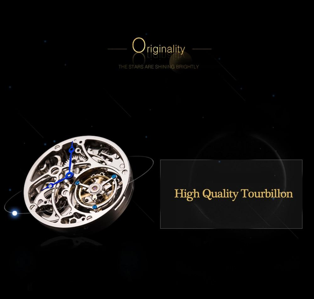 GUANQIN 2019 Real Tourbillon Mechanical Hand Wind Mens Watches Top Brand Luxury Gemini Clock men Gold Sapphire Relogio Masculino 5