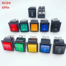 Kcd4 interruptor de alimentação 2 posição/3 posição 6 pinos equipamentos elétricos com interruptor de luz 16a 250vac/20a 125vac 1 peças