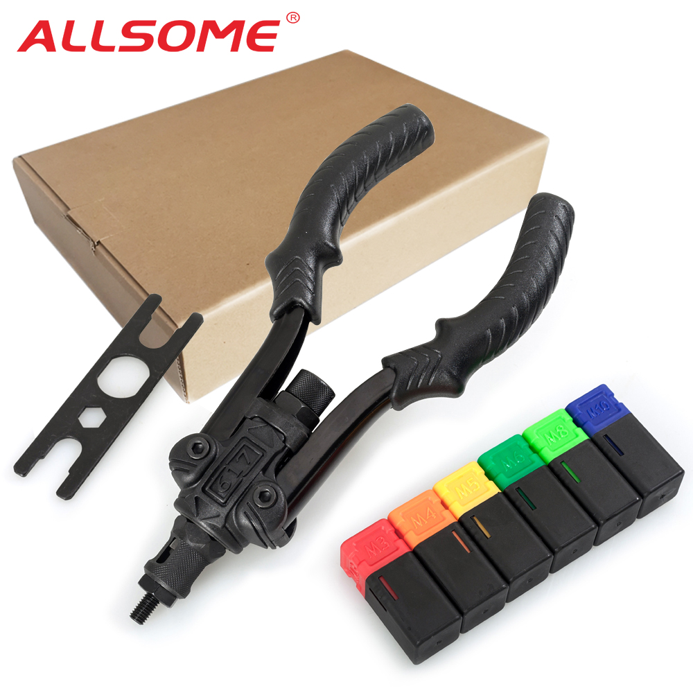 ALLSOME BT-617 Rivet Guns Tool Insert Manual Riveter Threaded Nut Riveting Rivnut Tool for Nuts M3 M4 M5 M6 M8 M10
