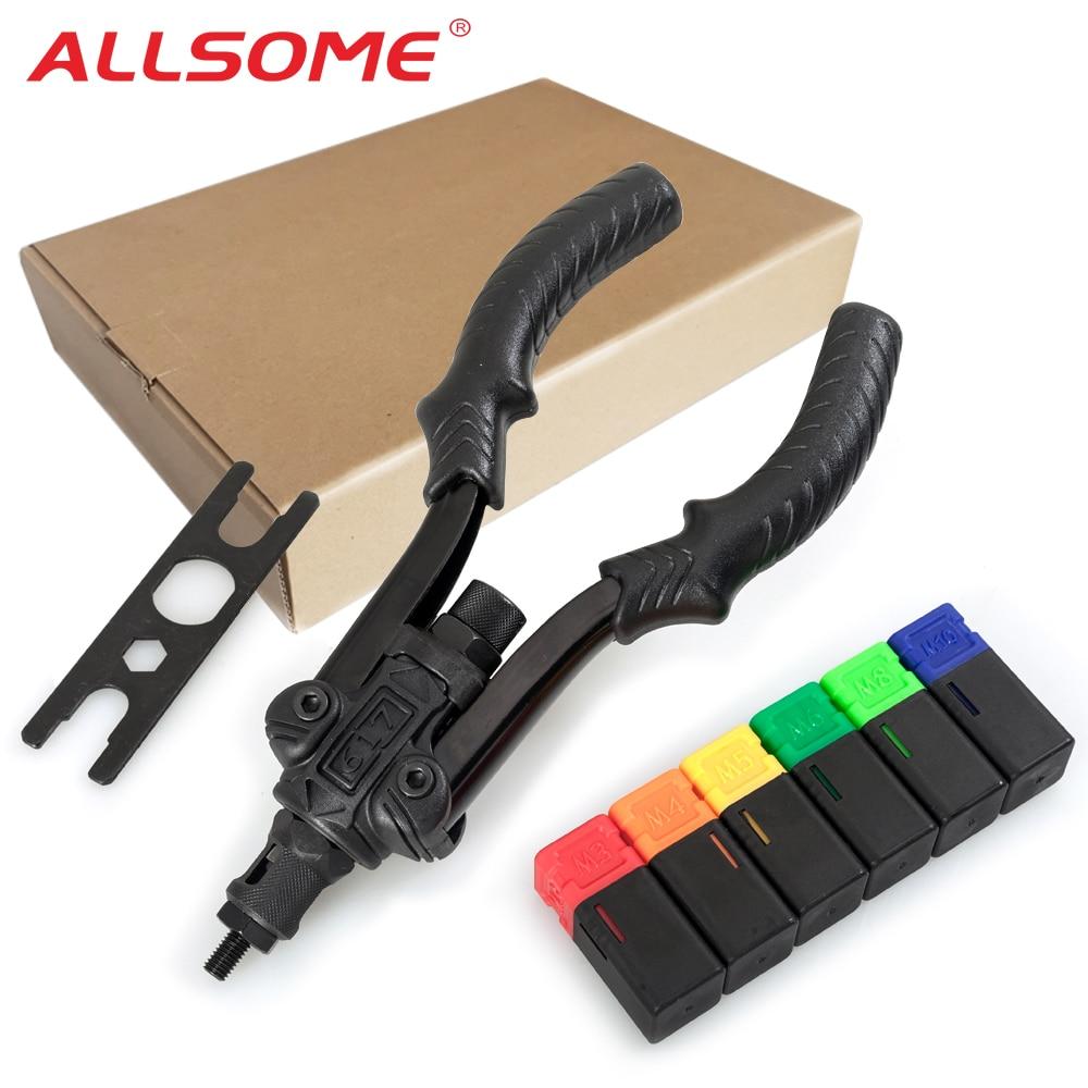 ALLSOME BT-617 Rivet Guns Tool Insert Manual Riveter Threaded Nut Riveting Rivnut Tool For Nuts M3 M4 M5 M6 M8 M10