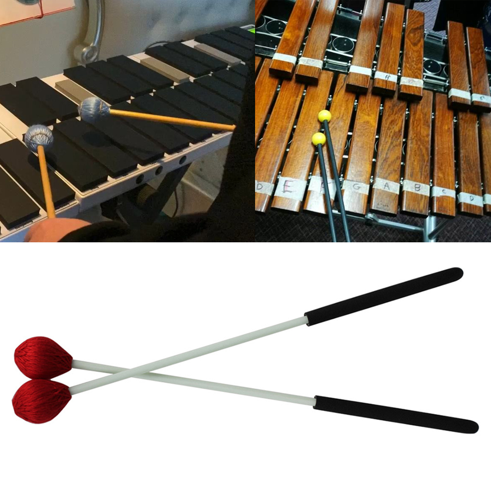 Xylophone Piano Musical Performance Marimba Sticks Mallet Portable Instrument Accessories Wood Handle Easy Grip Professional