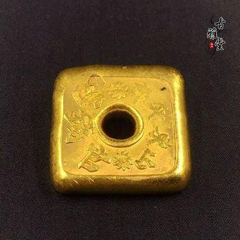 Wykwintne antyczne złote wlewki złote wlewki kwadratowe złote ciasta złote wlewki złote sztabki antyki republiki chińskiej tanie i dobre opinie CN (pochodzenie) Miedzi Antique sztuczna Free form CHINA 2000-Present Maskotka