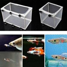 Aquarium Fish Tank Guppy Breeding Breeder Fish Baby Gauze Trap Box Isolator S/L