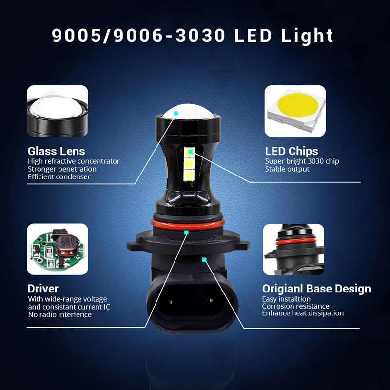 Edislight 2x9005 HB3 9006 HB4 1000LM LED Ampoule Antibrouillard pour Toyota Avalon 1995 1996 1997 1998 1999 2000 2001 2002 2003 2004 DRL