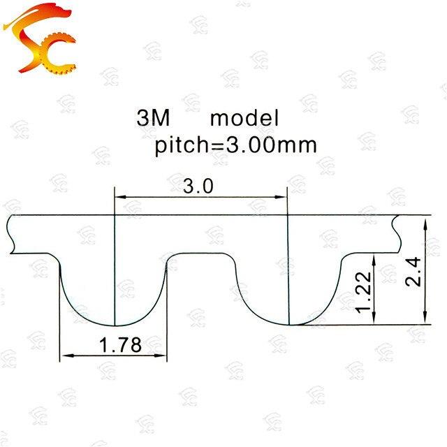 2PCS Closed Loop Timing Belt Transmission Belts HTD 3M-255-15 Perimeter 225 267 300 324 384mm Customized Width 8 9 10 15 17mm