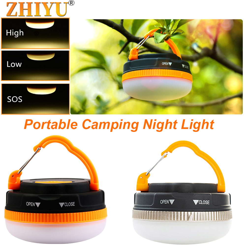 Super Bright Mini Portable Camping Lantern Night Light 3w 3 Modes LED Camping Light Outdoor Emergency Lamp Waterproof Use 3*AAA