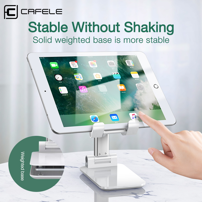 CAFELE Universal Adjustable Alloy Desktop Table Tablet Holder Stand For iPad Pro Desk Mobile Phone Holder Stand For iPhone Cell