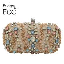 Boutique De FGG Vintage Perlen Geldbörse für Frauen Kupplungen Abend Taschen Party Cocktail Strass Kupplung Tasche Braut Hochzeit Tasche
