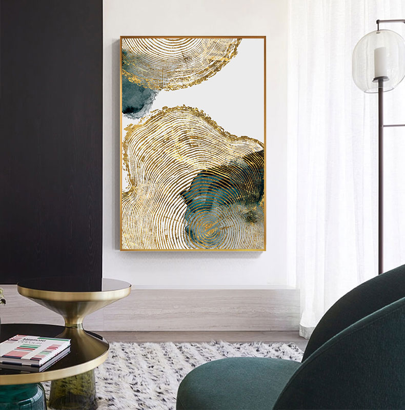 H137415981eae4e51b46c38b74682fcd3K Abstract Golden Leaf Vein Painting Tableaux Big Poster Print HD Wall Art for Living Room Entrance Aisle cuadros Salon decoracion