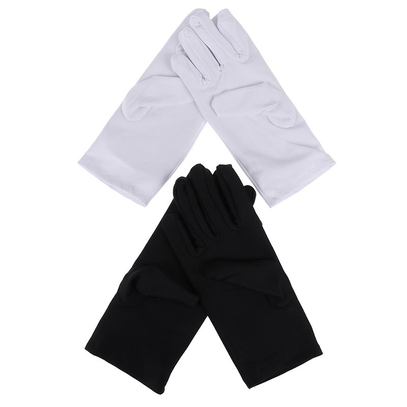 1Pair Cotton Gloves Khan Cloth Quality Check Solid Gloves Rituals Play White Gloves 2Colors