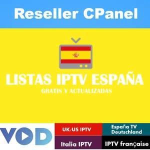 IPTV Reseller Panel European TV Spain TV English tv Support m3u enigma2