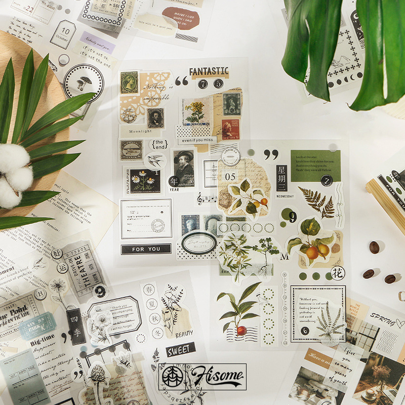 My Dear Life Fresh Plants Washi Paper Stickers Bullet Journal Supplies Scrapbooking Diy Sticker Diary Stationery Stickers