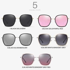Image 5 - AEVOGUE ใหม่แฟชั่นผู้หญิงรูปหลายเหลี่ยมแว่นตากันแดด Polarized กรอบแว่นกันแดดขนาดใหญ่กลางแจ้งขับรถ Gradient เลนส์แว่นตา UV400 AE0833