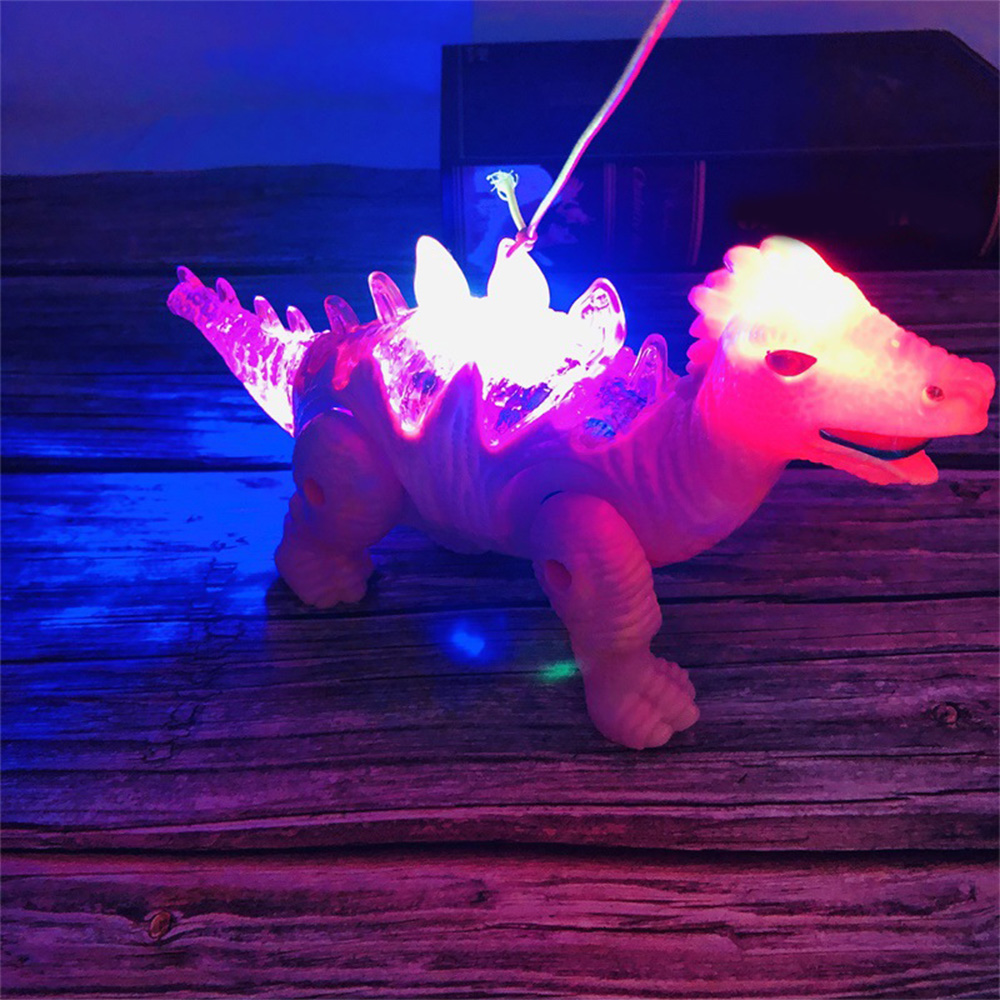Plastic Simulation Dinosaur Model Electric Walking Sound Light RC Toy LED Light Dinosaurs Funny Kids  Adults Educational Toy