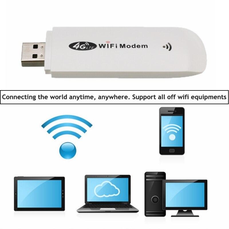 3G/4G LTE USB Modem Network Adapter With WiFi Hotspot SIM Card 4G Wireless Wi-Fi Router For Win XP Vista 7/10 Mac 10.4 IOS