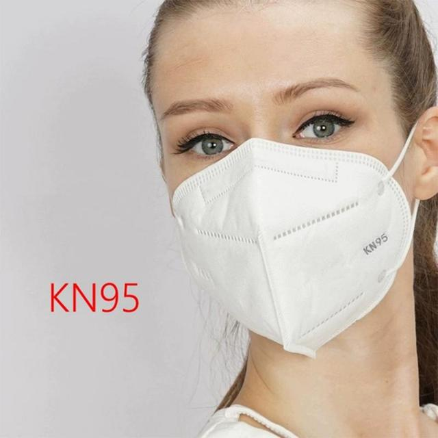 N95 6 layer Filter Mask Face Mask As FFP3 FFP2 Windproof Dustproof Anti PM2.5 Prevent Flu Mask KN 95Mask Features With Gift 2