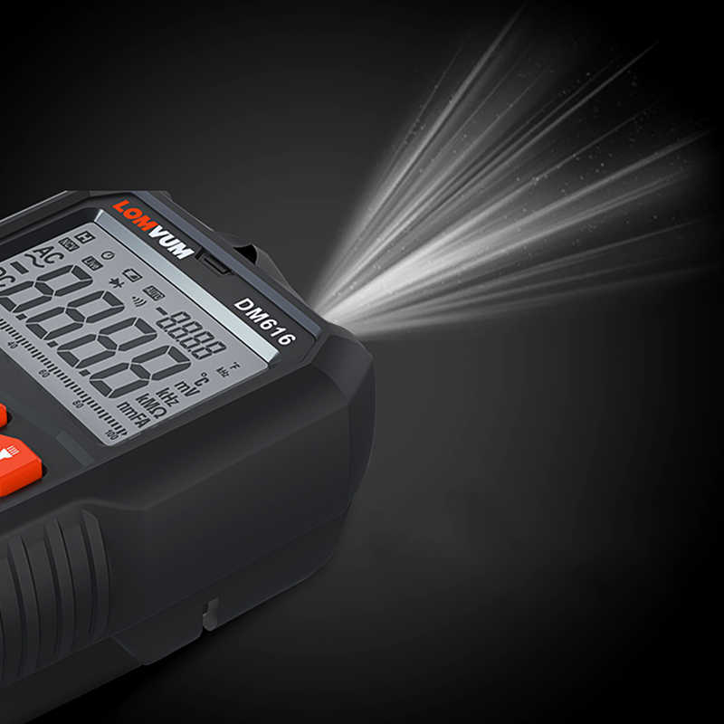 LOMVUM 디지털 멀티 미터 테스터 LED NCV LCD 멀티 테스터 프로브 전압계 핸드 헬드 AC DC 전류계 옴 커패시터 전압계