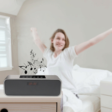 Bluetooth Wireless Speaker Metal Portable Stereo Sound Speakers System Mp3 Music Audio Player Support FM Tf Card Aux Alarm Clock vodool motor bluetooth mp3 fm radio audio sound stereo speakers waterproof amplifier speaker music audio system anti theft alarm