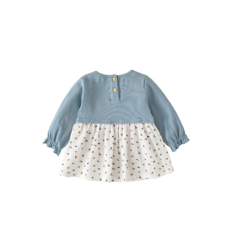 Image 4 - Girls Dress Peter Pan Collar Print Princess Girls Dresses Autumn Clothes For Kids Costume Girls Casual Wear 0 5YDresses   -